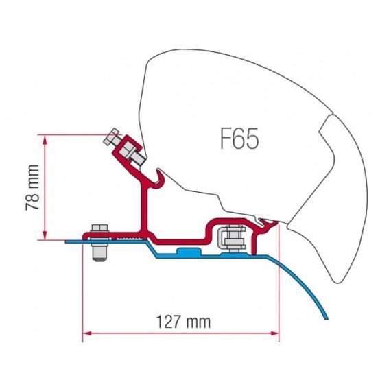 Kit za montažo Fiamma za Fiat Ducato, Citroen Jumper, Peugeot Boxer H3