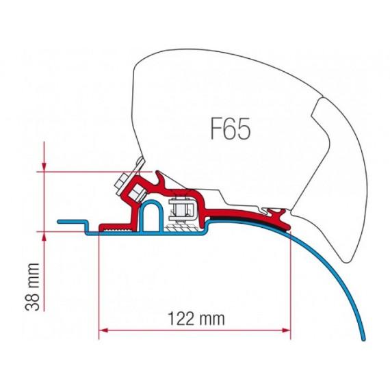 Kit za montažo Fiamma za Fiat Ducato, Citroen Jumper, Peugeot Boxer H2