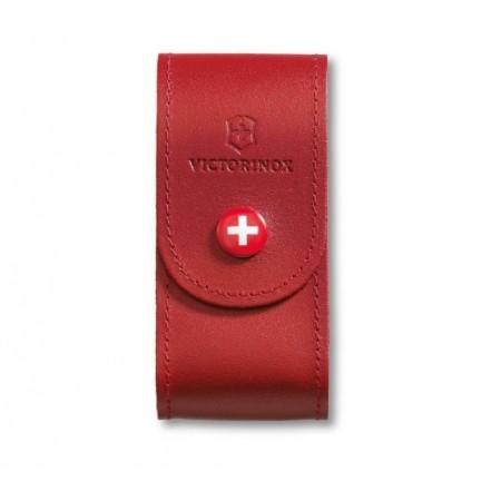 Etui za nož Victorinox usnjen rdeč