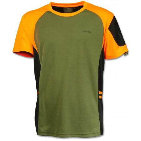 Majica Univers 94113392 tehnična zeleno oranžna