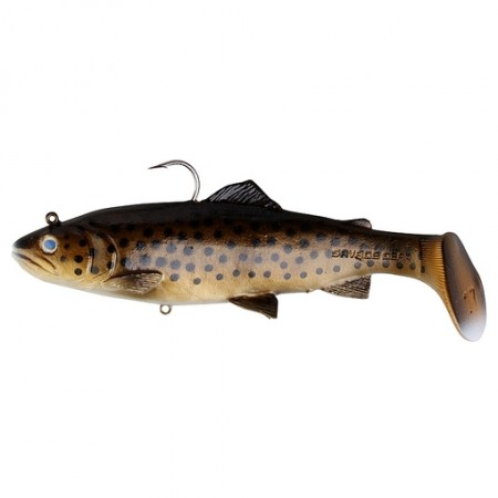 Vaba Savage Gear 3D Trout Rattle Shad 12,5cm Dark Brown Trout 47084