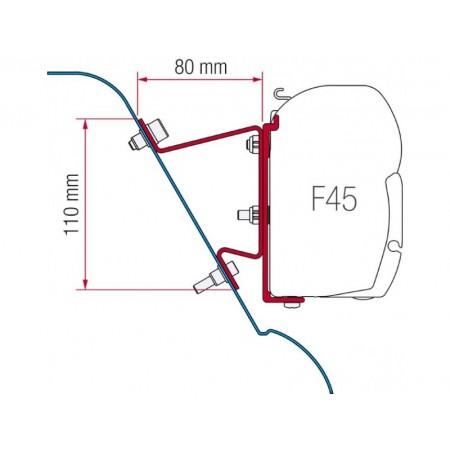 Kit za montažo Fiamma Fiat Ducato, Citroen Jumper, Peugeot Boxer