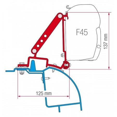 Kit za montažo Fiamma za Renault Master, Opel Movano, Nissan Interstar