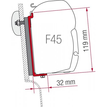 Kit za montažo Fiamma Westfalia s prtljažnikom