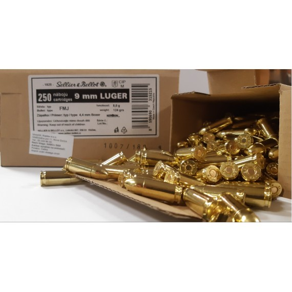 NABOJ S&B 9mm LUGER FMJ 8,0g V315212 (pakiran po 250 kos)