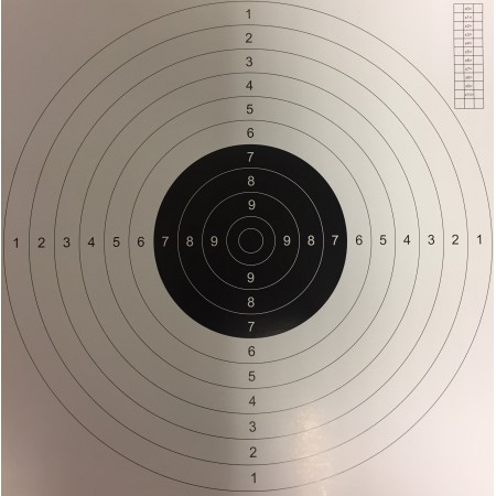 TARČA R50 pištolska (bel papir)