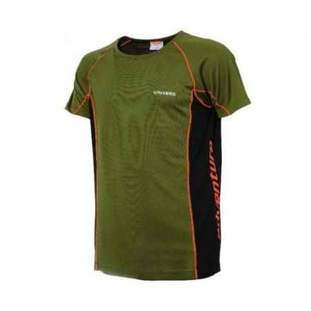 Majica Univers tehnična zeleno/oranžna
