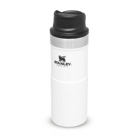 Steklenica STANLEY Classic Trigger Travel Mug 0,35L bela